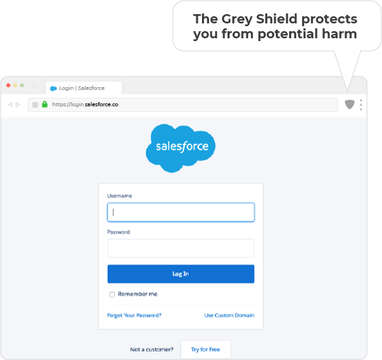 Grey Shield in your browser